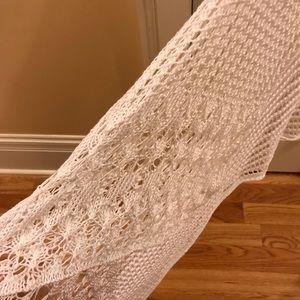 Sweaters - Crochet Vest w/ Lace Detail